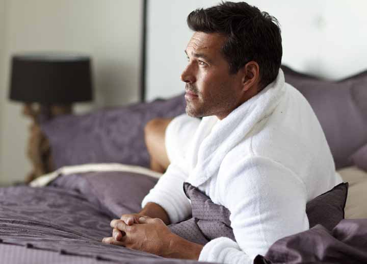 Eddie Cibrian New Photo Shoot For Charisma Linens