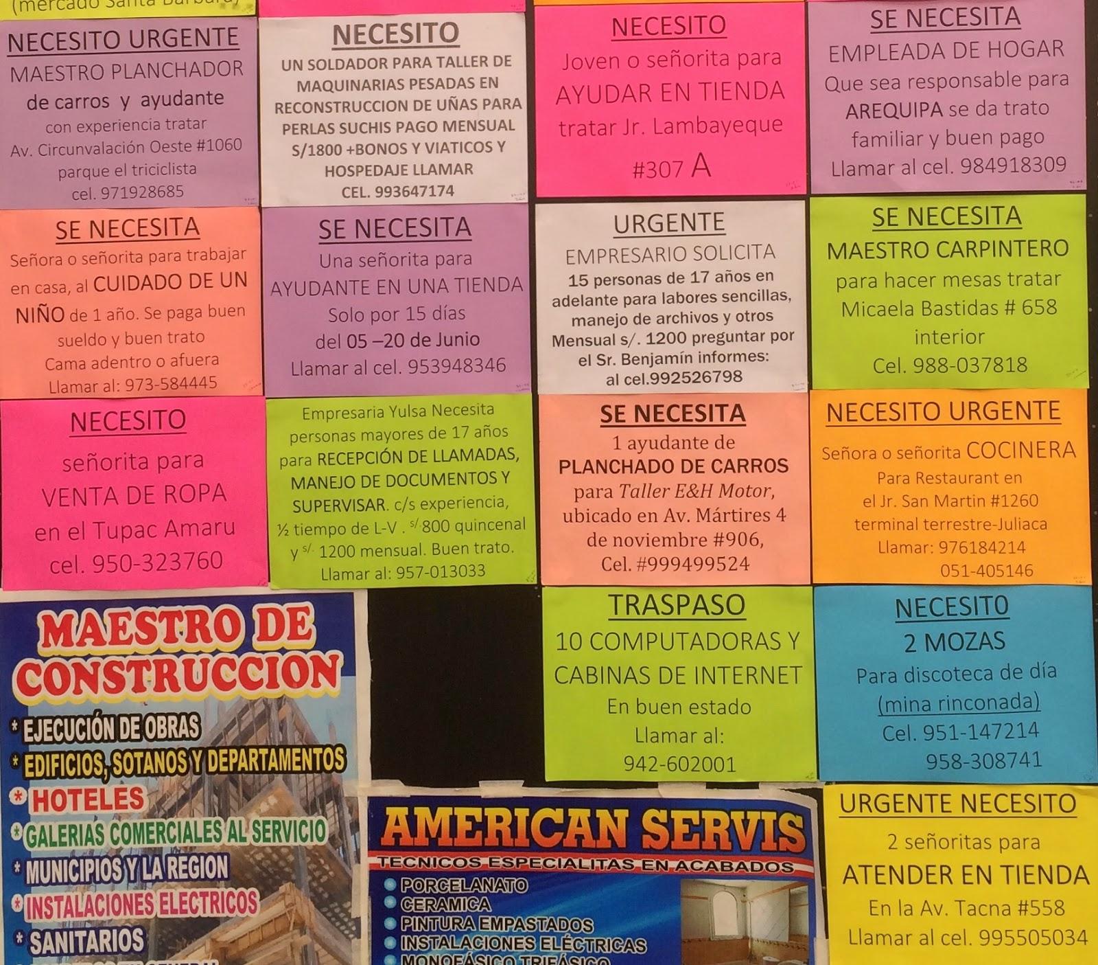 Busco trabajo juliaca avisos 29 de mayo - Busco trabajo de ayudante de cocina ...