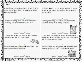 smiling and shining in second grade halloween word problems halloween word problems
