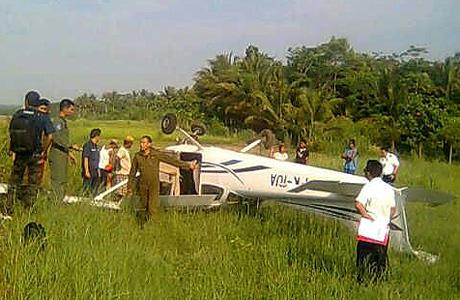 Cessna 172 PK-IUA milik BPA kecelakaan di Pangandaran