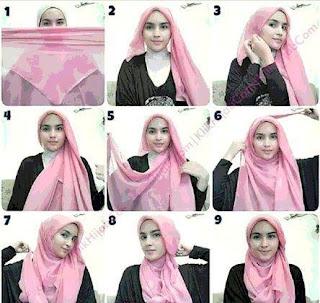 Tutorial Kreasi Hijab Segi Empat Terbaru 2016