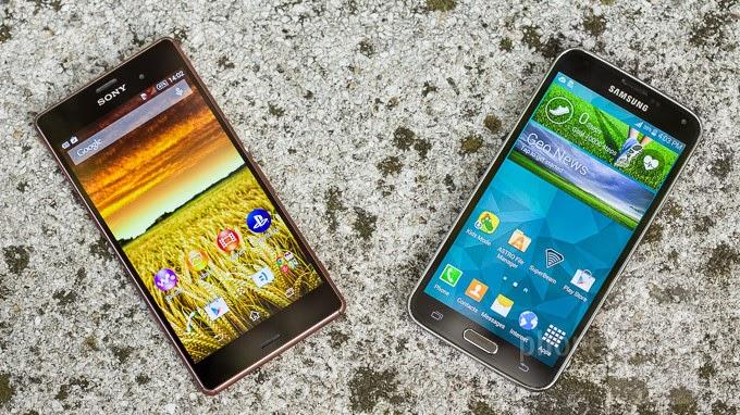 spesifikasi Sony Xperia Z3 dengan Samsung Galaxy S5