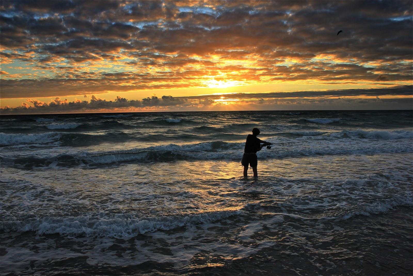 Surf fishing hollywood beach florida gulfport sunrise for Beach fishing florida