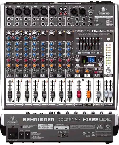 BEHRINGER XENYX 802 MIXER USER MANUAL