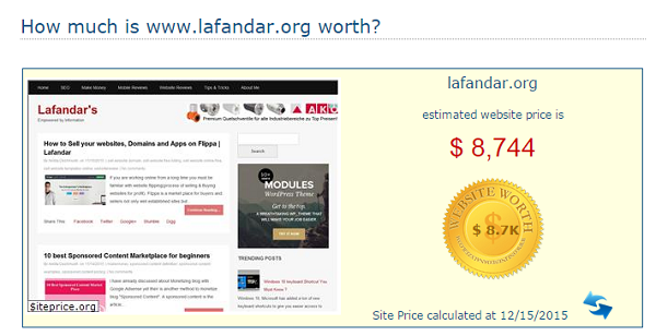 How to Calculate the price of a Website