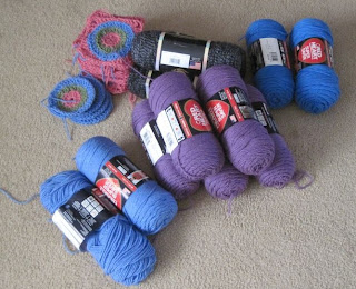 donated yarn and squares