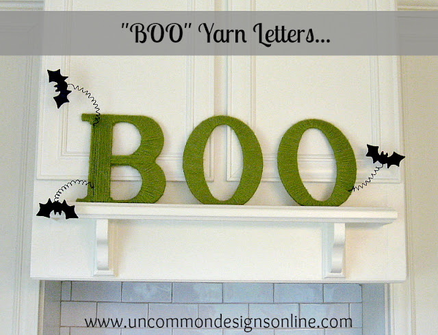 BOO yarn letters tutorial