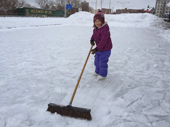 A Young Zamboni....Alana at the JB Wise Ice Rink Today