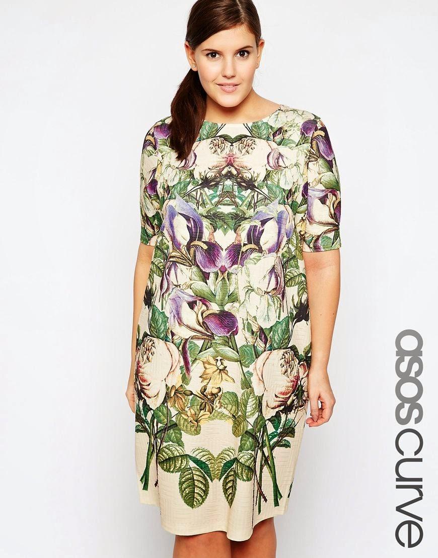 asos curve floral dress,