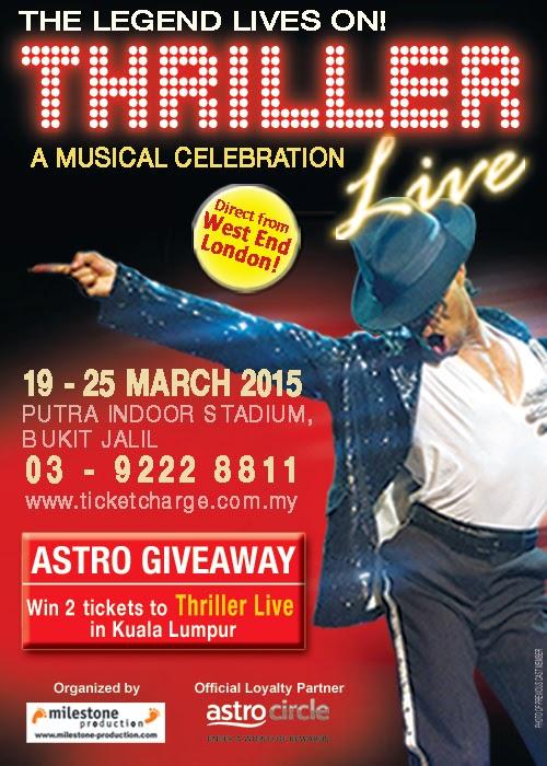 Nak Menang 2 Tiket VIP Percuma Thriller Live in KL