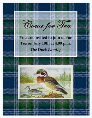 Come for a Special Duck Tea