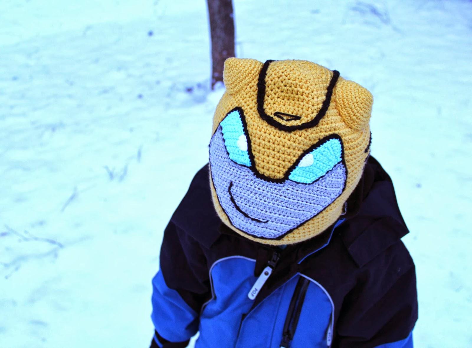 transformers bumblebee crochet hat beanie