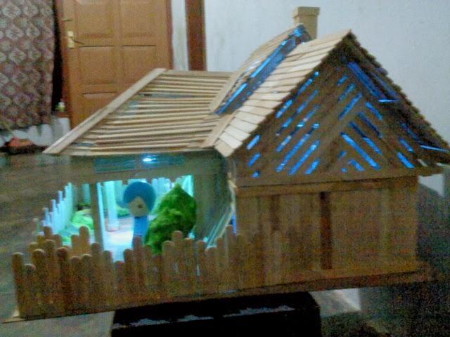 Membuat miniatur rumah sederhana dengan stik eskrim