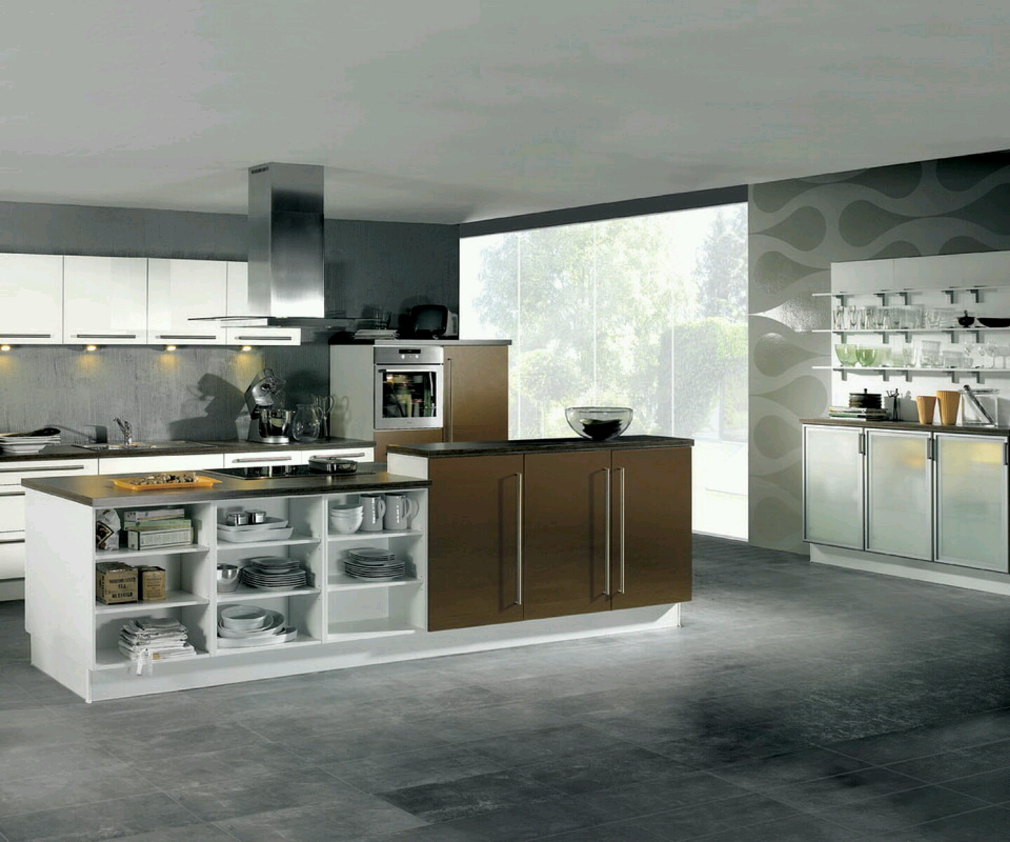 New home designs latest ultra modern kitchen designs ideas for Modern kitchen designs gallery