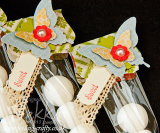 Tea for Two Mint Butterfly Gifts by Stampin' Up! Demonstrator Bekka Prideaux - check out her blog for lots of cute ideas