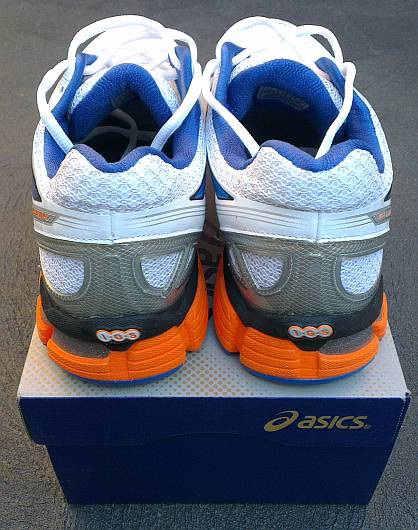 Rear view of Asics Kayano 19