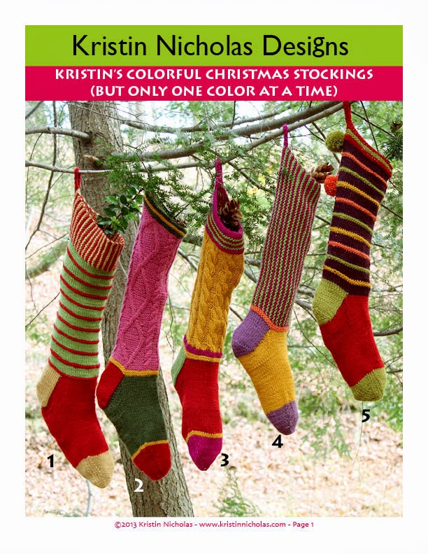 NEW! Kristin's Colorful Christmas Stocking PDF