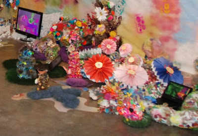Detail of Installation, Hysterical Paradise, JVanderpool, 2008