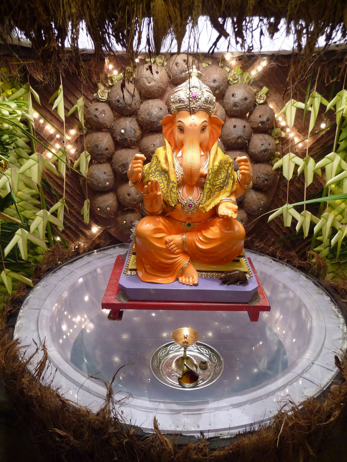 Ecobappa eco friendly decoration ideas for Ganapati decorations home
