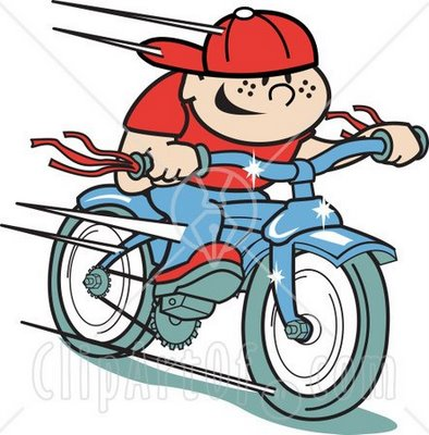 Boy Riding Bike Clip Art