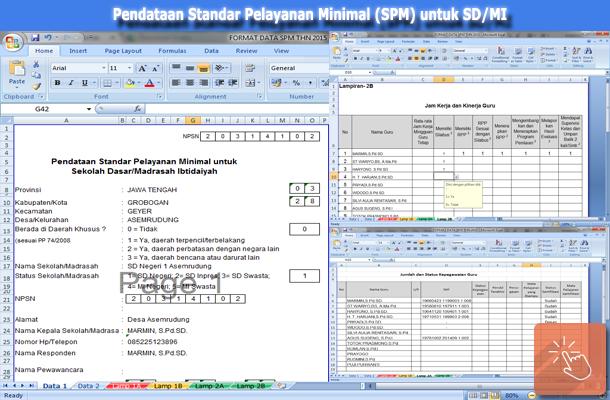 Pendataan Standar Pelayanan Minimal (SPM) untuk SD dan MI