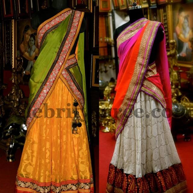 Aashiaanya Latest Half Sarees