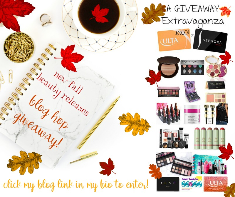 Enter Our Fall New Beauty Blog Hop Giveaway!