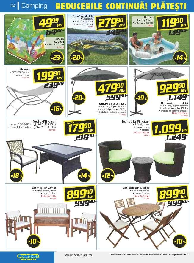catalog oferte si promotii oferta praktiker buzau iulie august 2013. Black Bedroom Furniture Sets. Home Design Ideas