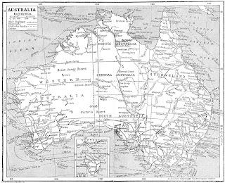 Mapa de Australia 1932