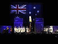 Neil Young und Crazy Horse Showbeginn in Australien