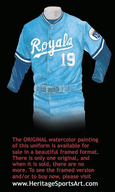 kansas city royals jersey history