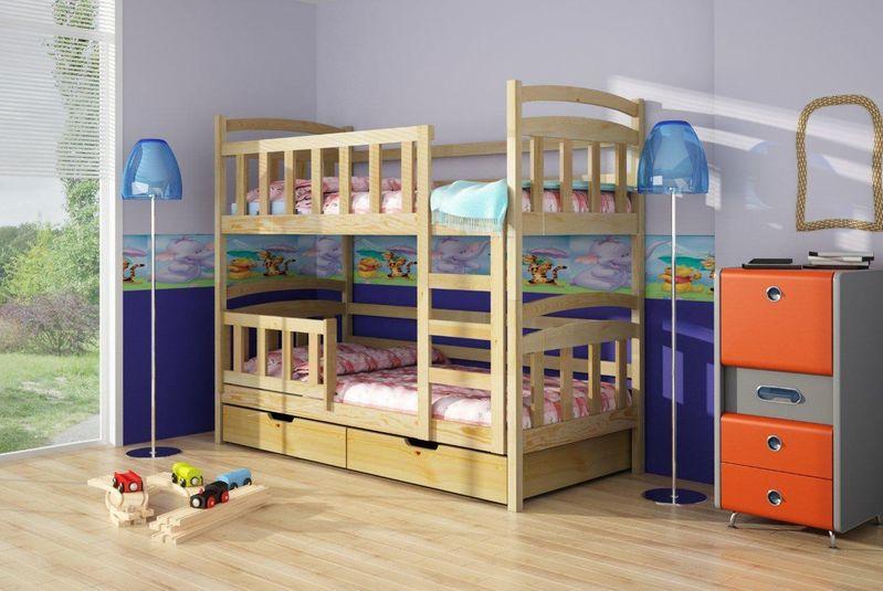 Łóżka piętrowe dla dzieci.
