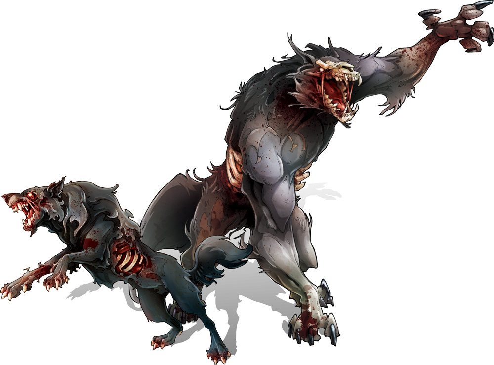 White Wolf Rpg Black Dog Artwork