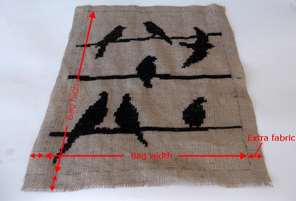 cross stitch burlap, how to make burlap bag, bag tutorial, cross stitch patterns, sihlouette cross stitch