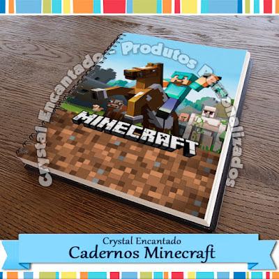 Capa personalizada de caderno Minecraft