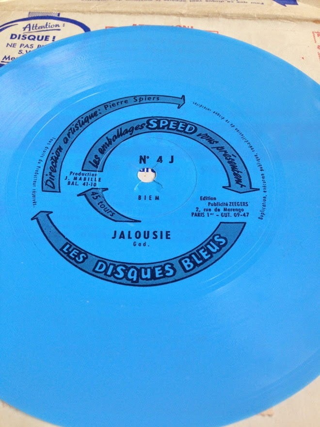 disques bleu emballages speed flexi disc
