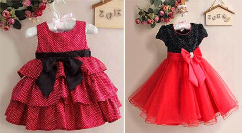 baju gaun pesta anak perempuan