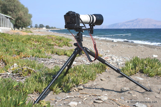 Heavy Duty Long Lens Support Bracket at beach overview