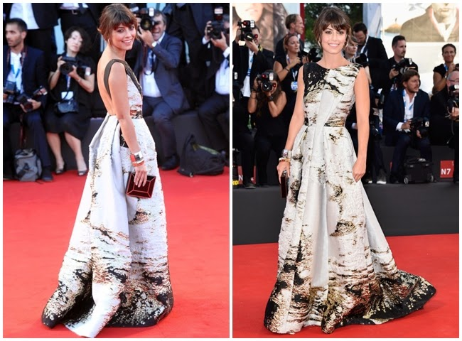 2014 Golden Bell Awards: Joe Chen wore the same gown with Alessandra Mastronardi