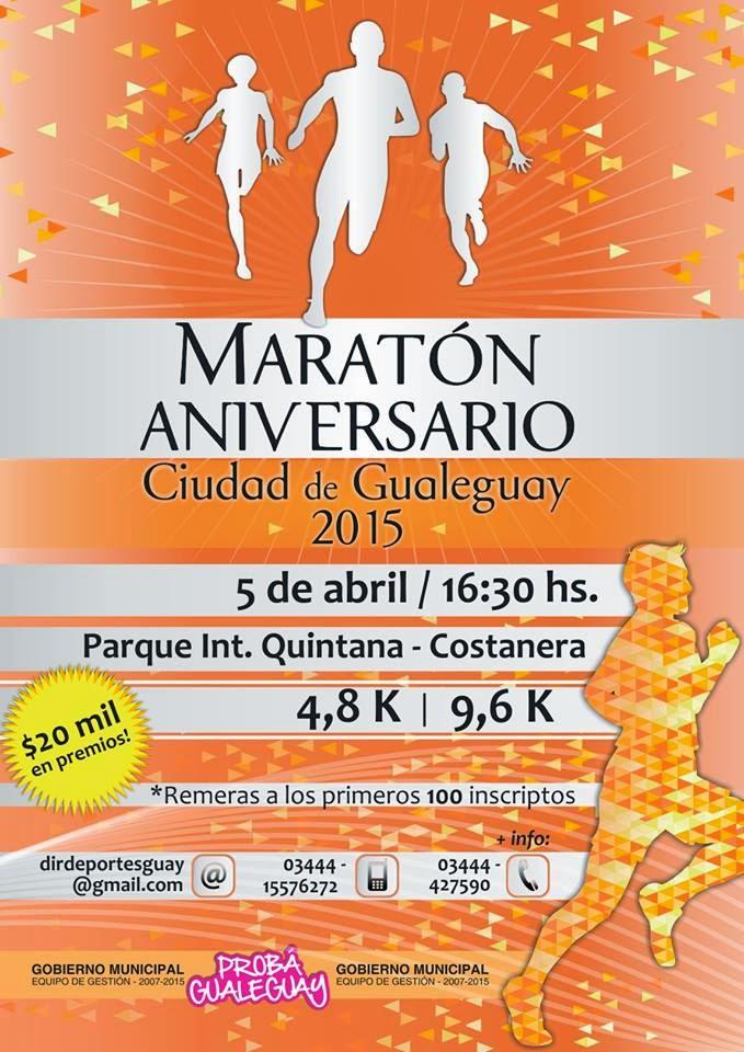5 de Abril- 16º Edición Maratón Aniversario Ciudad de Gualeguay