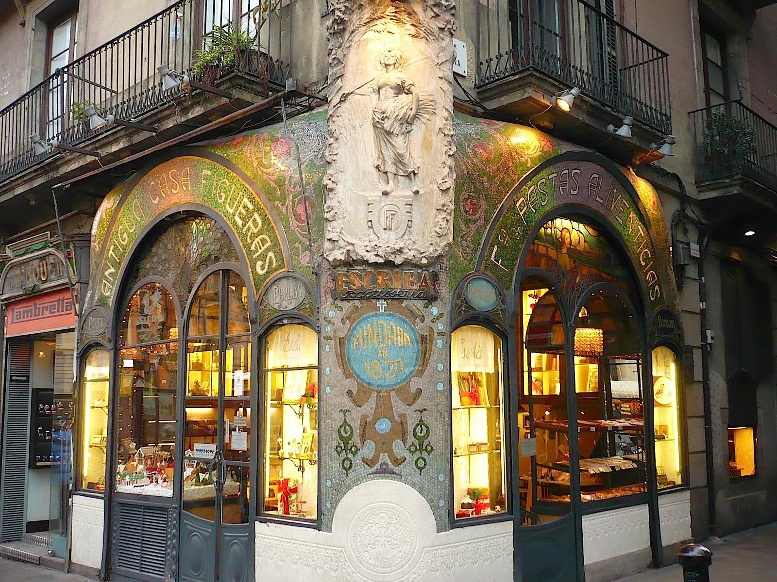 Go ter le monde antiga casa figueras 1902 p tisserie - Art nouveau architecture de barcelone revisitee ...