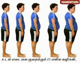 udal edai kuraikka 12 eliya tips | 12 Simple tips to lose weight