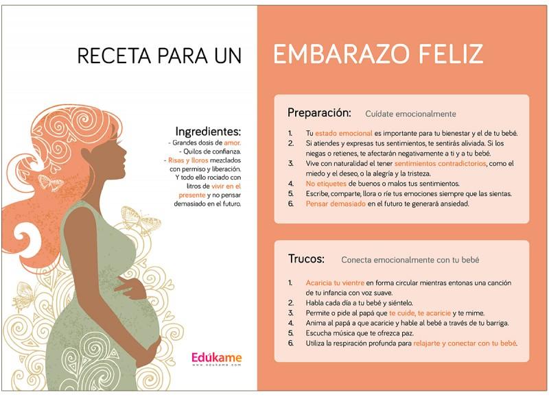 emociones durante el embarazo infografia