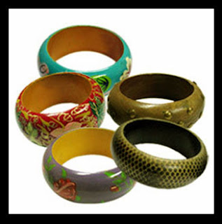 Latest Wooden Bangles Designs 2012