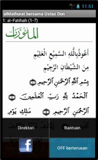 PLAY berterusan (auto) pada al-Ma'thurat Ustaz Don