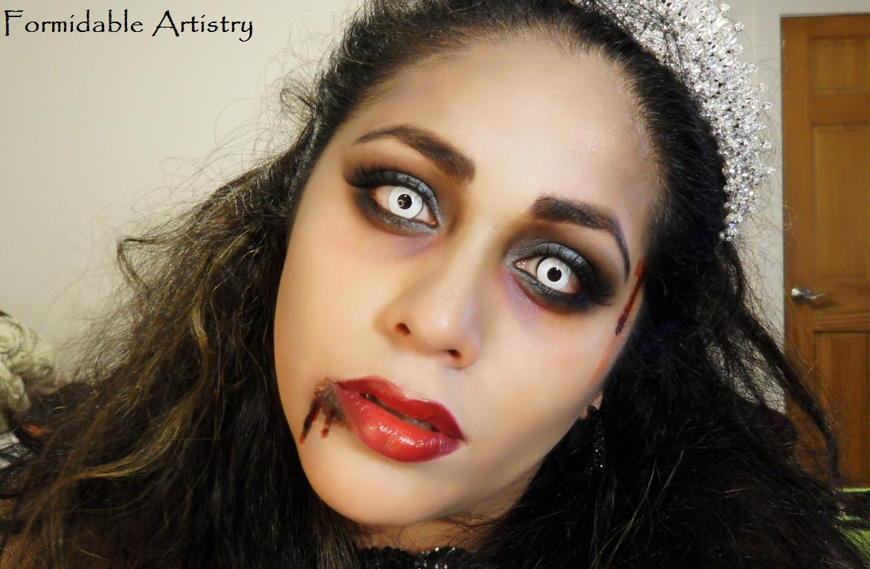 formidableartistry zombie prom queenbride halloween makeup tutorial