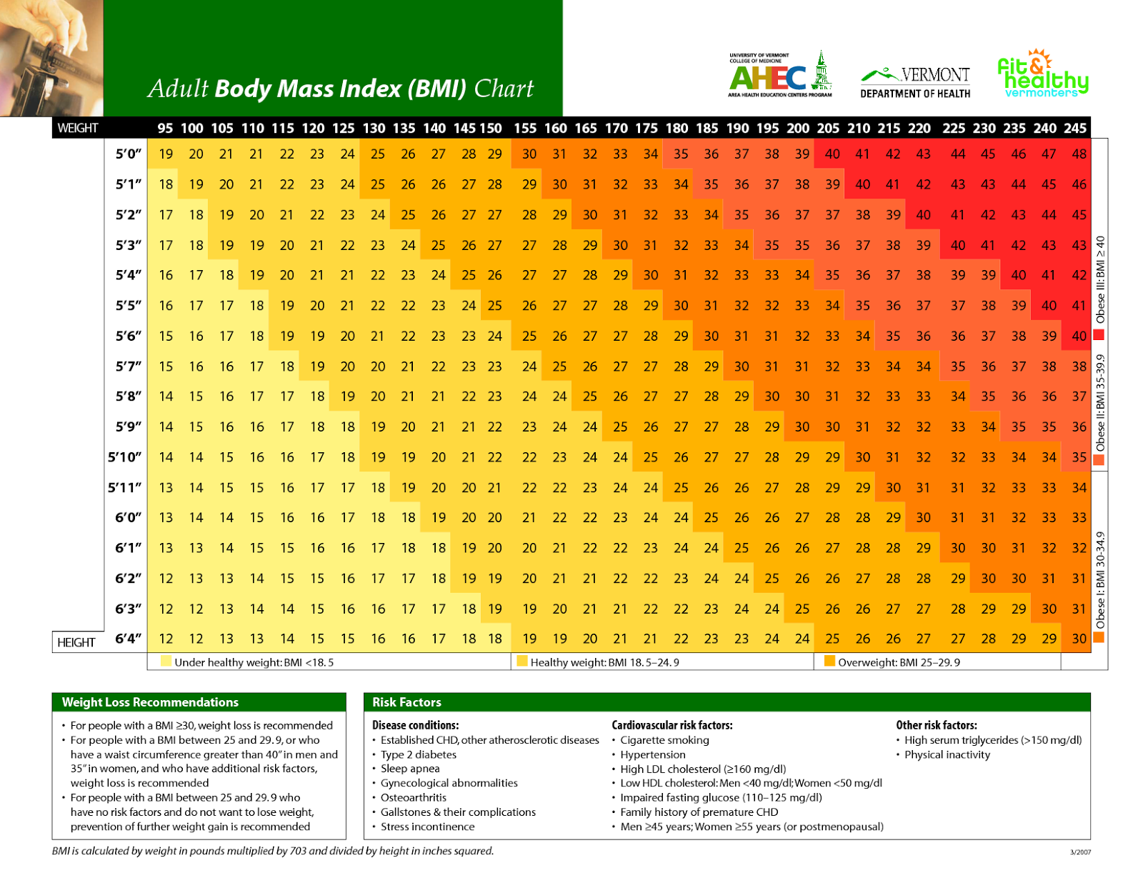 Becoming healthier january 2013 bmi chart for medical scales nvjuhfo Gallery