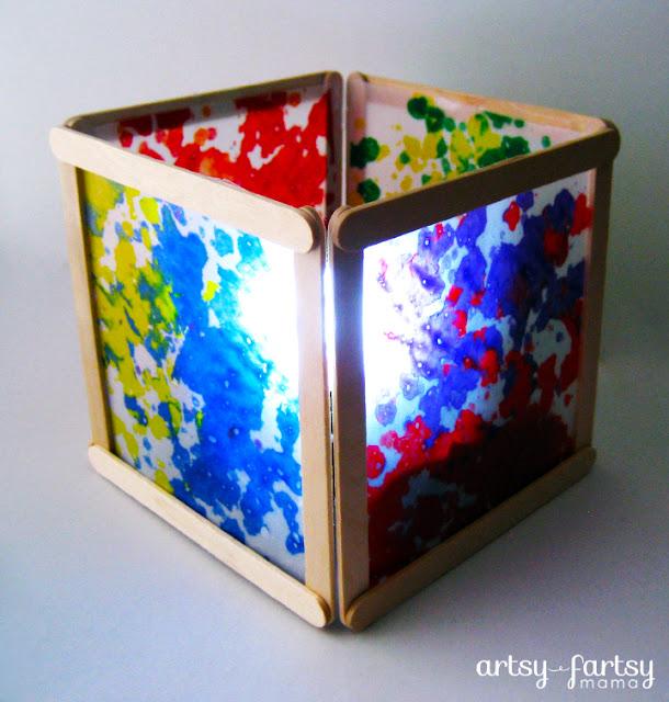 artsy-fartsy mamaDIY Wax Paper Lantern
