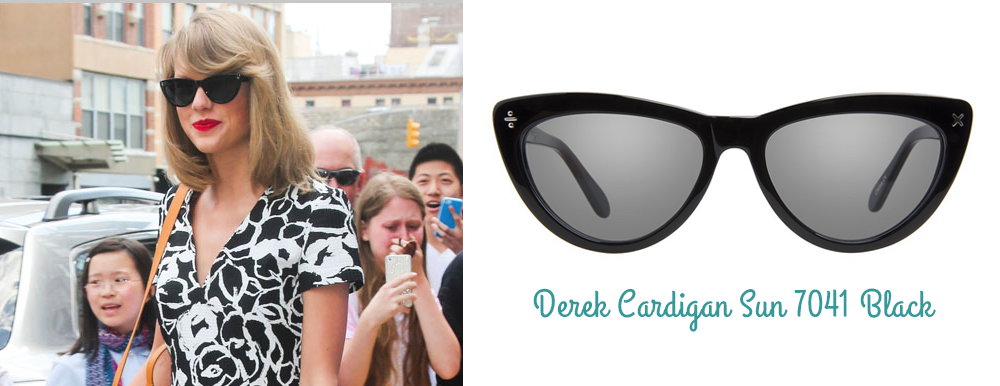 Taylor Swift lunettes montures Derek Cardigan ClearlyContacts.ca