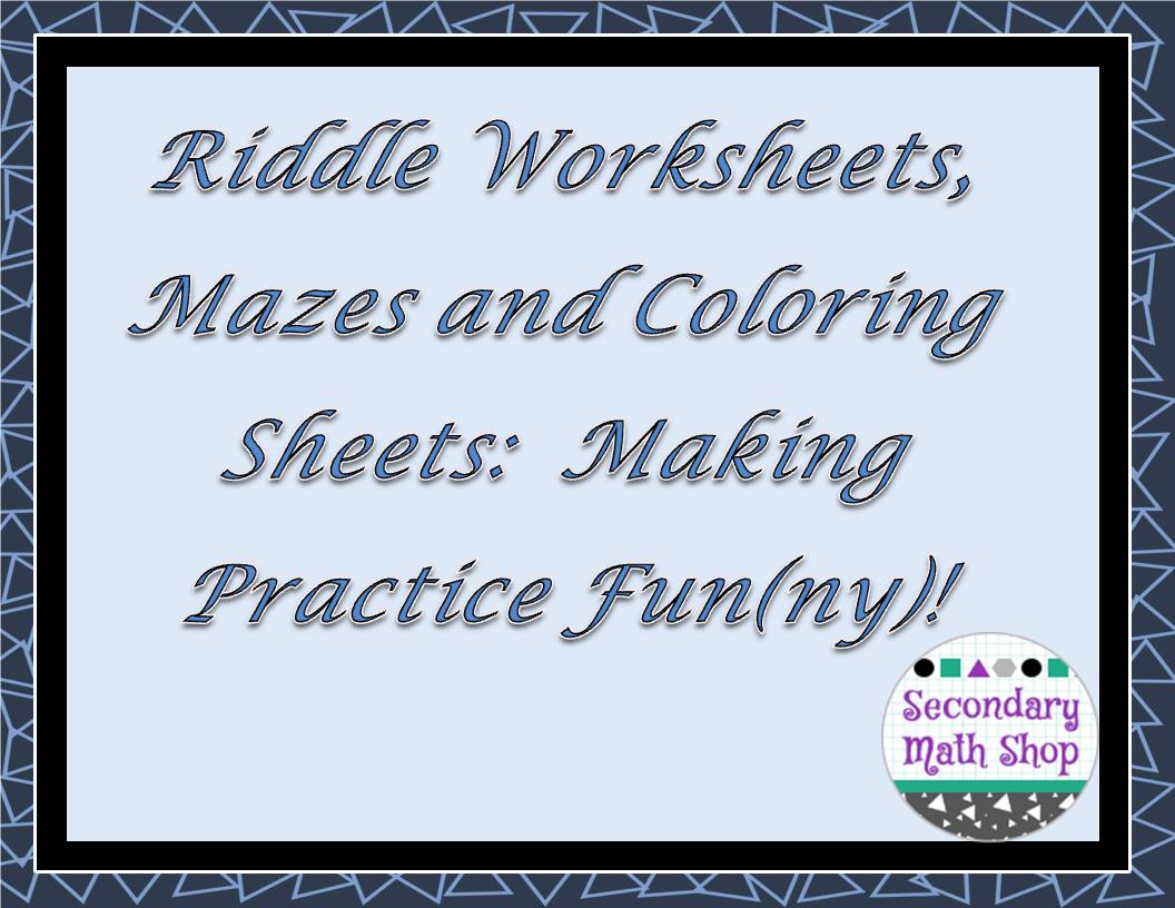 Making Worksheets Fun Proga Info